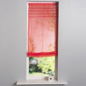 Blancheporte Vytahovací záclonka se sámky červená korálová 60x160cm