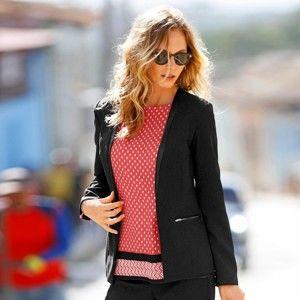 Blancheporte Strečové kostýmkové sako černá 52
