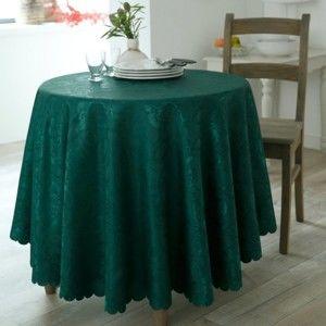 Blancheporte Damaškový ubrus lahvově zelená 150x200cm