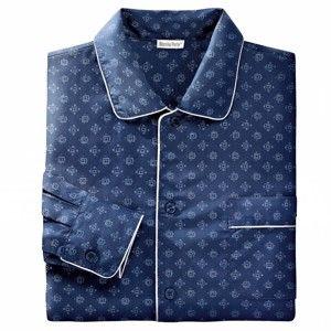 Blancheporte Klasické pyžamo s potiskem nám.modrá 87/96 (M)