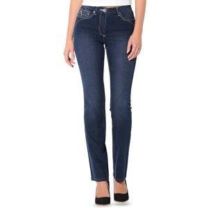 Blancheporte Rovné džíny s push-up efektem, pro nižší postavu modrá 38