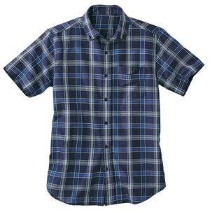 Blancheporte Košile s krátkými rukávy, polycoton nám.modrá 45/46