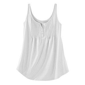 Blancheporte Jednobarevný top s knoflíčky bílá 42/44