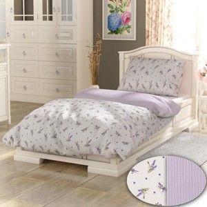 Blancheporte Bavlněné povlečení Lavender bílá bílá/potisk jednolůžko 140x200 + 70x90cm