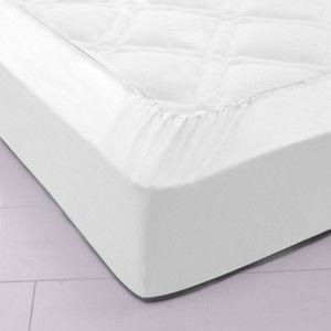 Blancheporte Jednobarevné napínací prostěradlo, bavlna bílá napínací prostěradlo 140x190cm