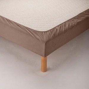 Blancheporte Ochranný pás na matraci, mikrovlákno hnědošedá 160x200cm