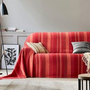 Blancheporte Přehoz, povlak na polštář červená křeslo 180x240cm