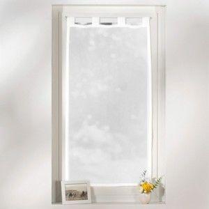 Blancheporte Voálová záclonová vitráž, poutka bílá 60x160cm