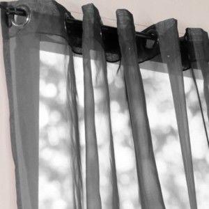 Blancheporte Voálový závěs s kovovými oky šedá 140x170cm