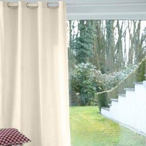 Blancheporte Jednobarevný závěs, očka režná 135x260cm