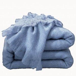 Blancheporte Mohérová deka levandulová 130x180cm