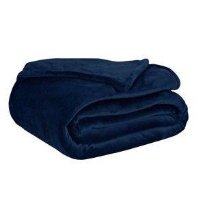 Blancheporte Přikrývka s dotekem kožešiny tmavě modrá 75x100cm