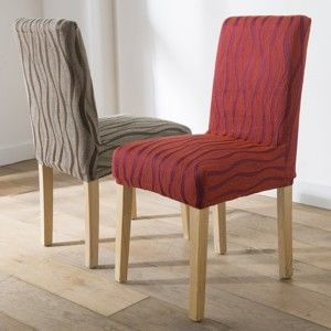 Blancheporte Pružný žakárový potah na židle, sada 2 ks terakota 2 kusy