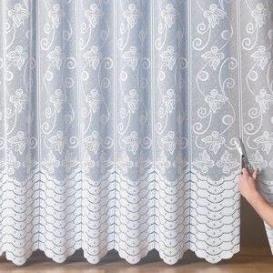 Blancheporte Geniální upravitelná záclona, motýli bílá 300x240cm