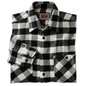 Blancheporte Kostkovaná flanelová košile černá/bílá 41/42