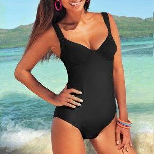 Blancheporte Jednodílné plavky černá,koš.E 44