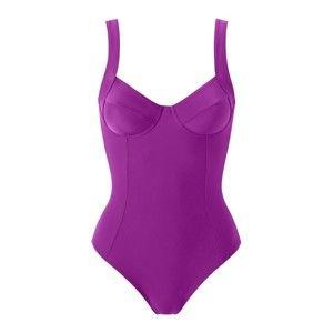 Blancheporte Jednodílné plavky purpurová, koš.D 52