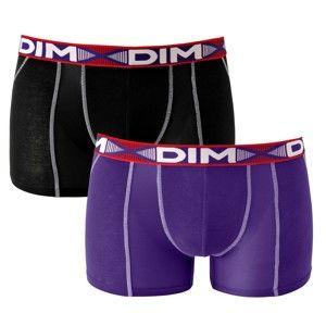 Blancheporte Boxerky 3D Flex Air Dim, sada 2 ks černá+fialová L