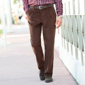 Blancheporte Manšestrové kalhoty, 2x1 sámek kaštanová 50