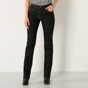 Blancheporte Rovné džíny, střední postava černá 36