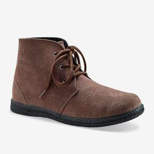 Blancheporte Kotníkové boty na zavázání kaštanová 38