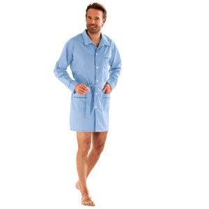 Blancheporte Prodloužený pyžamový kabátek neb.modrá 127/136 (3XL)