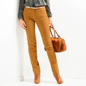 Blancheporte Zeštíhlující kalhoty, menší postava šafránová 52