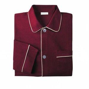 Blancheporte Prodloužený pyžamový kabátek bordó 117/126 (XXL)