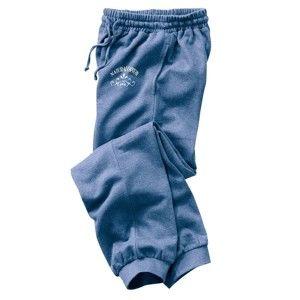 Blancheporte Meltonové sportovní kalhoty modrý melír 52/54