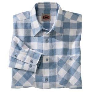 Blancheporte Kostkovaná flanelová košile modrá/bílá 45/46