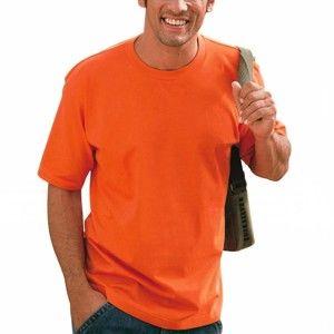 Blancheporte Tričko s kulatým výstřihem, sada 3 ks modrá+oranžová+zelená 107/116 (XL)