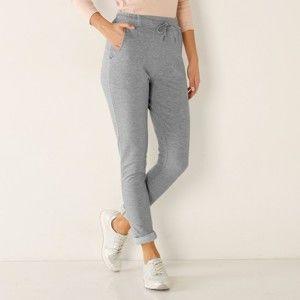 Blancheporte Meltonové kalhoty šedý melír 50