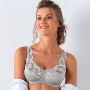 Blancheporte Zmenšující krajková podprsenka, s kosticemi modrošedá, koš.E 105