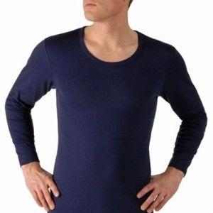 Blancheporte Thermo tričko, 100% bavlna, sada 2 ks nám. modrá 125/132 (4XL)