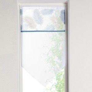 Blancheporte Vitrážová záclonka s bordurou modrá/zelená 45x90cm