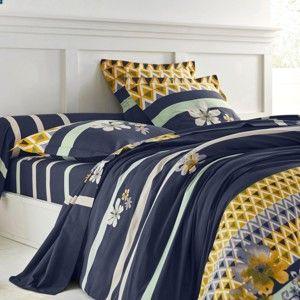 Blancheporte Povlečení Louise, zn. Colombine, bavlna námořnická modrá klasické prostěradlo 180x290cm