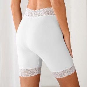 Blancheporte Krajkové panty, stahující bílá 50