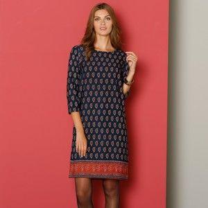 Blancheporte Šaty s kašmírovým vzorem nám.modrá 50