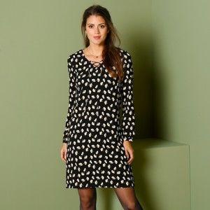 Blancheporte Šaty se šněrováním černá/bílá 36