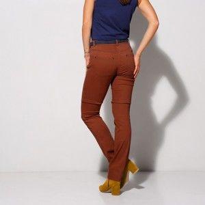 Blancheporte Strečové rovné kalhoty karamelová 40