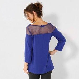 Blancheporte Tričko s výšivkou modrá 52