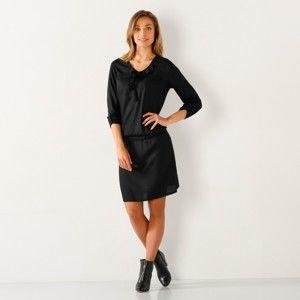 Blancheporte Jednobarevné šaty černá 54