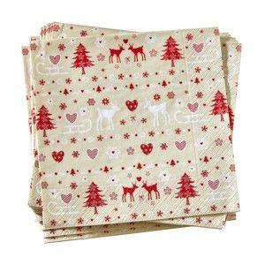 Blancheporte Papírové ubrousky Vánoce, sada 20 ks vánoce 33x33cm