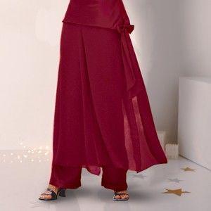 Blancheporte Saténová kalhotová sukně tomatová 44
