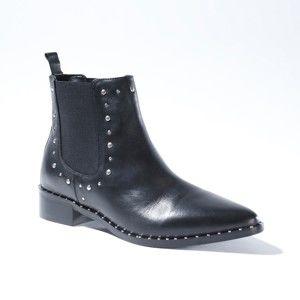 Blancheporte Kotníkové boty se cvočky černá 38