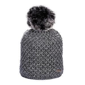 Blancheporte Zimní pletená čepice s podšívkou a bambulí tmavě šedá uni