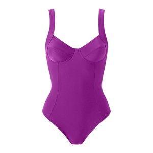 Blancheporte Jednodílné plavky purpurová, koš.D 42