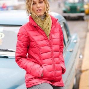 Blancheporte Lehká prošívaná bunda, krátká korálová 46