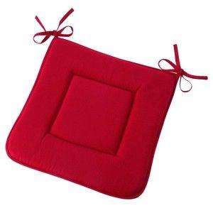 Blancheporte Podložka na židli červená 40x40cm 3+1