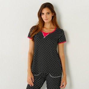 Blancheporte Pyžamové tričko s potiskem a krátkými rukávy potisk puntíky 34/36
